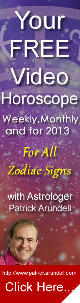Your In-depth FREE Weekly and Monthly Video Horoscopes in HD, for every zodiac sign from Astrologer Patrick Arundell...