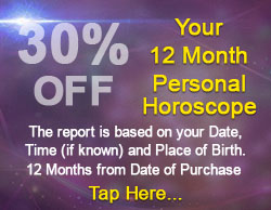30% off your 12 month Personal Horoscope Report
