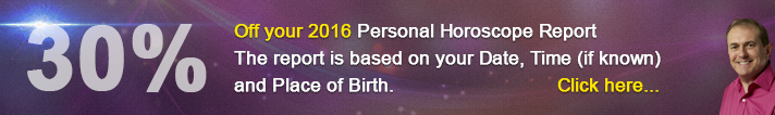 30% off your 2016 Personal Horoscope Report