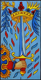 Ace of Swords Love Tarot Meaning