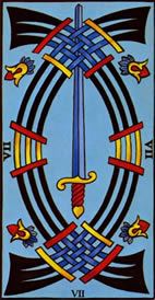 Seven of Swords Love Tarot Meaning