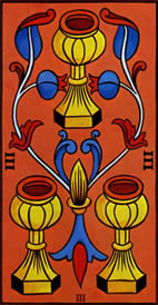 Three of Cups Love Tarot Meaning