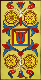 Four of Pentacles Love Tarot Meaning