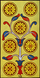 Seven of Pentacles Love Tarot Meaning