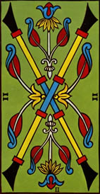Two of Wands Love Tarot Meaning