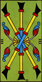 Three of Wands Love Tarot Meaning