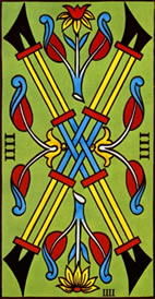 Four of Wands Love Tarot Meaning
