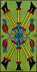 Five of Wands Love Tarot Meaning