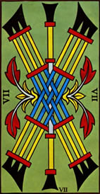 Seven of Wands Love Tarot Meaning