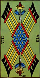 Eight of Wands Love Tarot Meaning