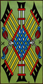 Ten of Wands Love Tarot Meaning