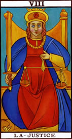 The Justice Love Tarot Meaning